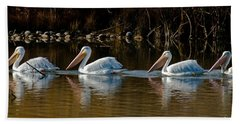 Follow The Leader Beach Towel by Steven Reed