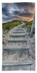 Beach Towel featuring the photograph Follow The Path by Sebastian Musial