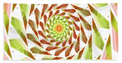 Abstract Swirls  Beach Towel by Ester  Rogers