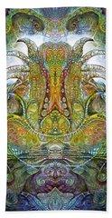 Beach Towel featuring the digital art Fomorii Throne by Otto Rapp