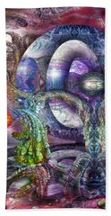 Beach Towel featuring the digital art Fomorii Universe by Otto Rapp