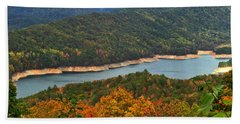 Fontana Lake In Fall Beach Towel