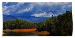 Fontana Lake Storm Beach Towel