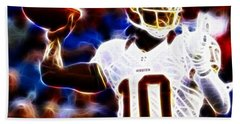 Football - Rg3 - Robert Griffin IIi Beach Towel by Paul Ward