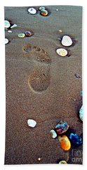 Beach Towel featuring the photograph Footprint by Nina Ficur Feenan