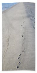 Footprints And Pawprints Beach Sheet