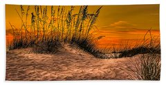 Footprints In The Sand Beach Towel by Marvin Spates