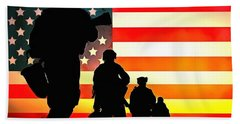 For God And Country Beach Towel
