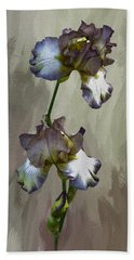 Beach Towel featuring the photograph For The Love Of Iris by Diane Schuster