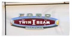 Ford 100 Twin I Beam Truck Emblem Beach Towel