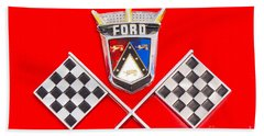 Ford Emblem Beach Sheet by Jerry Fornarotto