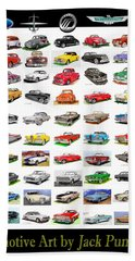 Four Decades Of Fords Poster Beach Towel