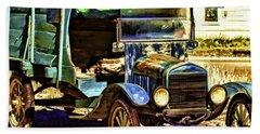 Beach Sheet featuring the painting Ford by Muhie Kanawati