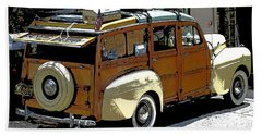 Ford Woodie Beach Towel