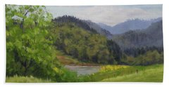 Ford's Pond In Spring Beach Towel