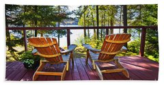 Forest Cottage Deck And Chairs Beach Towel