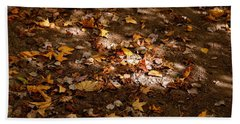 Forest Floor Beach Sheet by Karen Harrison