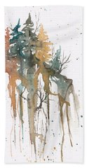 Forest On A Cliff Beach Towel
