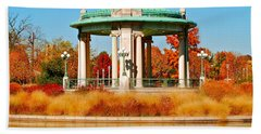Beach Towel featuring the photograph Forest Park Gazebo by Peggy Franz