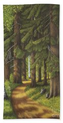 Forest Road Beach Towel