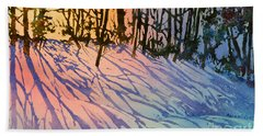 Forest Silhouettes Beach Towel