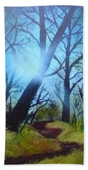 Forest Sunlight Beach Towel
