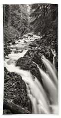 Forest Water Flow Beach Towel