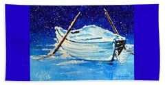 Forgotten Rowboat Beach Towel by Jackie Carpenter