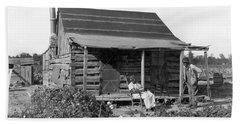 Former Slaves At Their Cabin Beach Towel