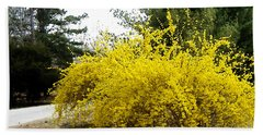 Forsythia Beach Towel