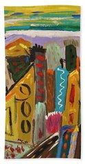 Forsythia Sky Beach Towel by Mary Carol Williams