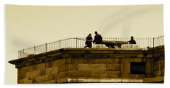 Fort Delaware Cleaning Crew Beach Towel by Amazing Photographs AKA Christian Wilson