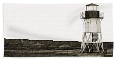 Fort Point Lighthouse Beach Sheet by Holly Blunkall
