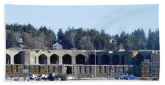Fort Popham In Maine Beach Towel