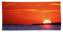 Fort Story Sunrise Beach Towel