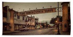 Fort Worth Stockyards Beach Towel