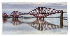 Forth Bridge Reflections Beach Towel