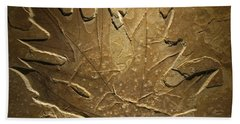 Fossilized Maple Leaf Beach Towel