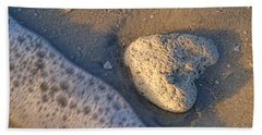 Found Heart Beach Sheet by Peggy Hughes