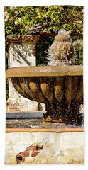 Beach Towel featuring the photograph Fountain Of Beauty by Peggy Hughes