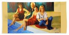 Four At A  Pool Beach Sheet