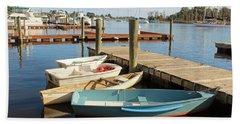 Beach Sheet featuring the photograph Four Boats  by Cynthia Guinn