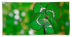 Four Leaf Clover Beach Towel
