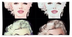 Four Marilyn Monroe 2 Beach Sheet