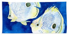 Foureye Butterflyfish Beach Towel