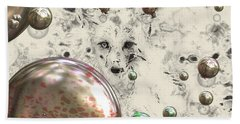 Fox Bubbles  Beach Towel