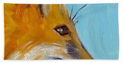 Fox Beach Sheet by Nancy Merkle