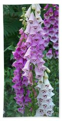 Foxglove After The Rains Beach Towel