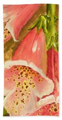 Foxy Foxglove Of Williamsburg Beach Towel