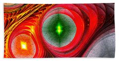 Beach Towel featuring the photograph Fractal 86 by Donna Lee